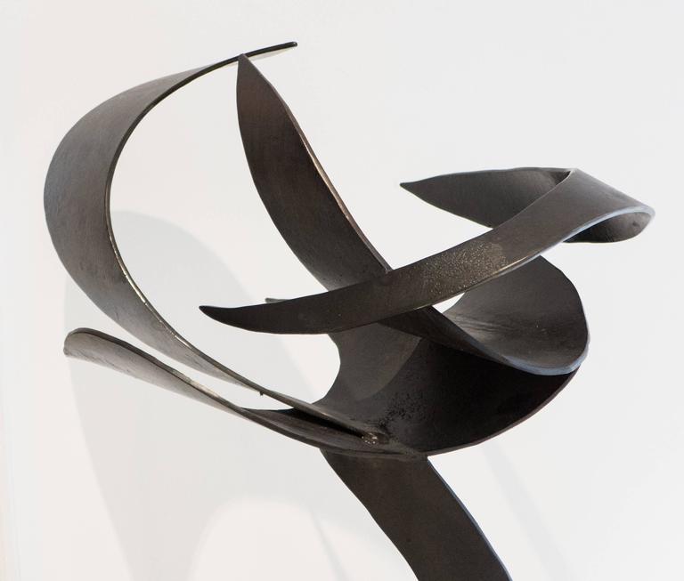 Brutalist James Bearden Steel Sculpture,