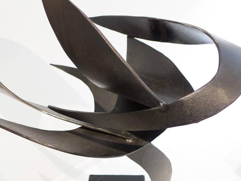 Patinated James Bearden Steel Sculpture,