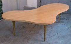 Large Robsjohn-Gibbings Biomorphic Cocktail Table