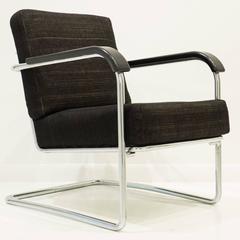 Werner Max Moser Tubular Steel Armchair for Embru Werke