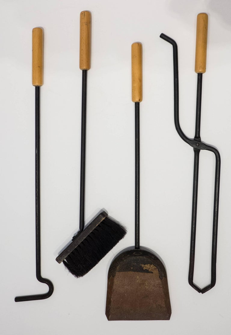 Austrian Modernist Fireplace Tool Set For Sale At 1stdibs