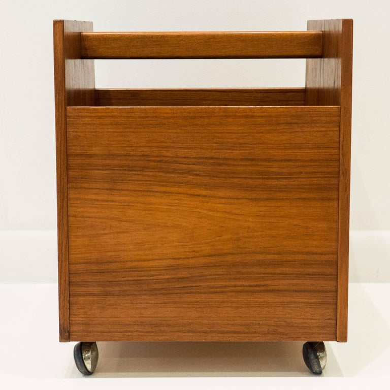Norwegian Magazine Cart by Rolf Hesland In Excellent Condition For Sale In New York, NY