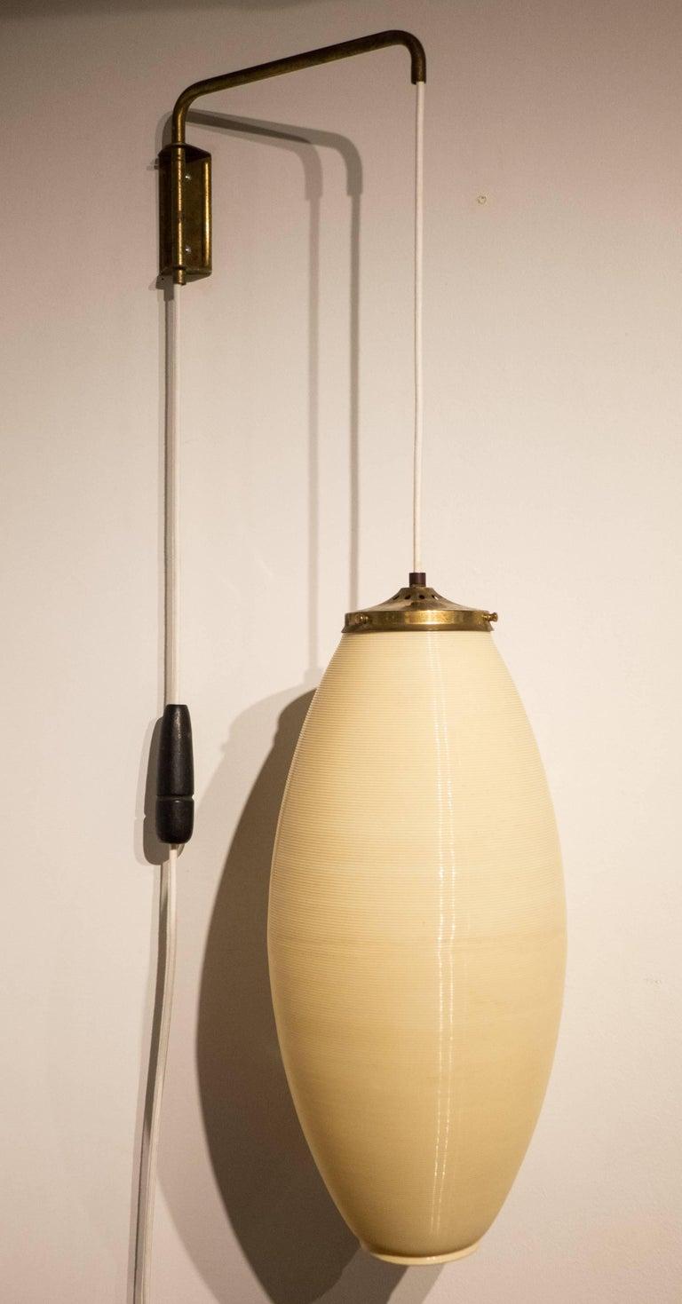Mid-Century Modern Rotaflex Adjustable Wall-Hanging Lamp For Sale