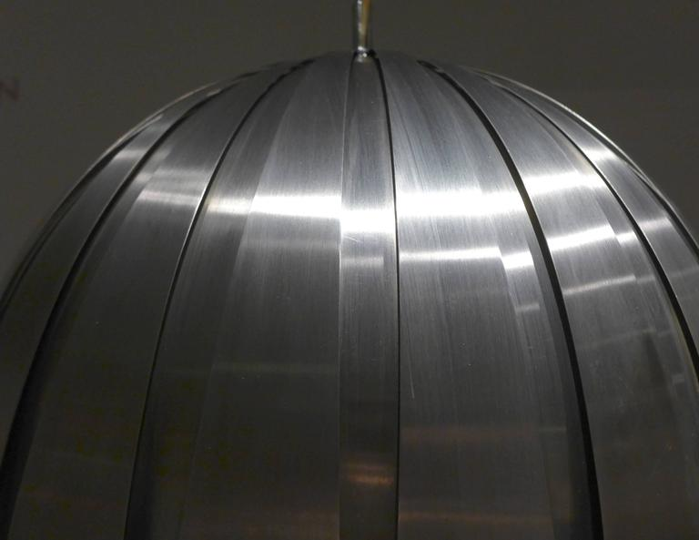 Stainless Steel Calotta Pendant Lamp by Elio Martinelli For Sale