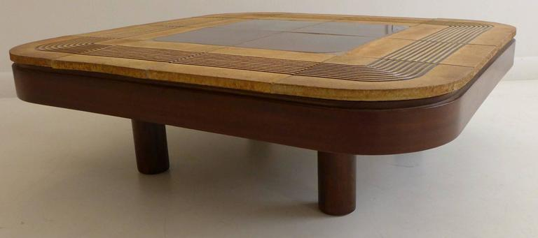 Roger Capron Cocktail Table With Rounded Edges At 1stdibs