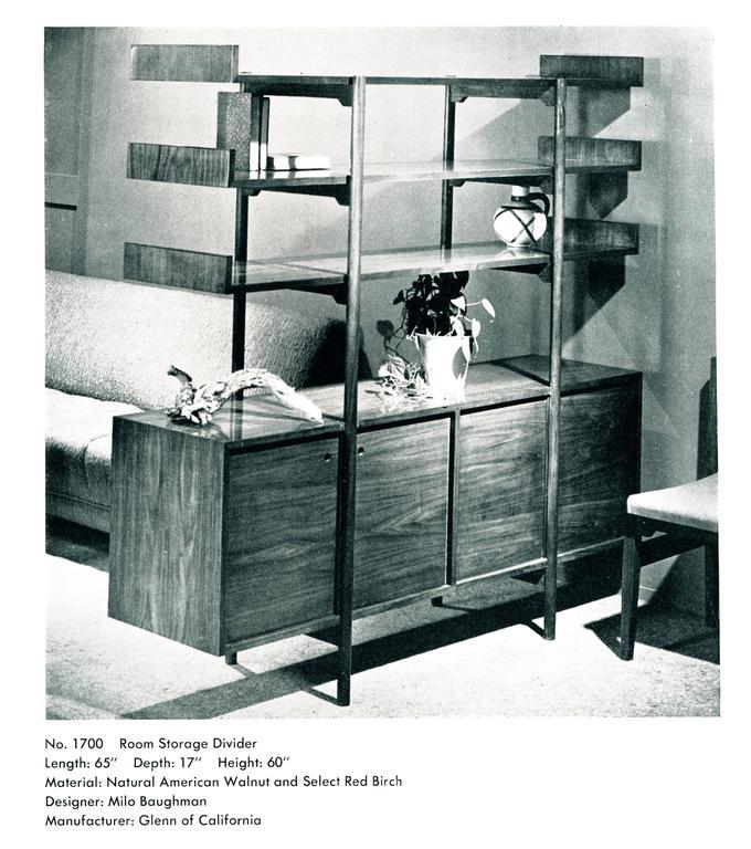 Milo Baughman Storage Room Divider for Glenn of California For Sale 1