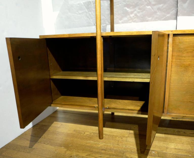 Birch Milo Baughman Storage Room Divider for Glenn of California For Sale