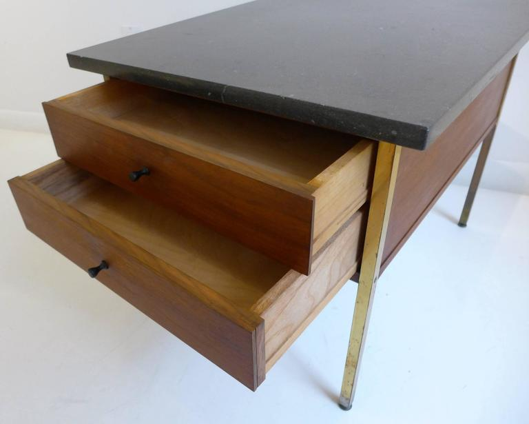 Brass Milo Baughman End Table for Arch Gordon For Sale