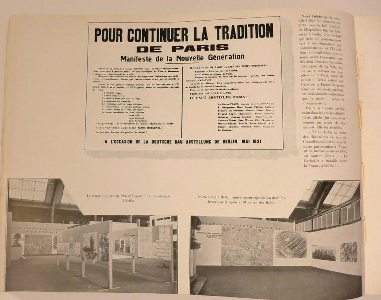 Paper First Edition Le Corbusier Book with Inscription For Sale