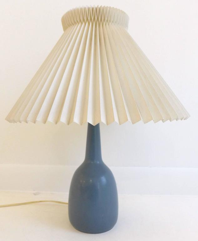 palshus lamp with pleated shade for sale at 1stdibs. Black Bedroom Furniture Sets. Home Design Ideas