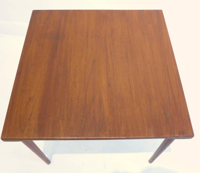 Scandinavian Modern Peter Hvidt and O. Molgaard-Nielsen Side Table For Sale
