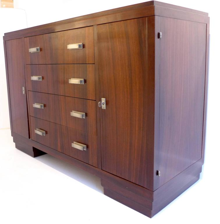French Art Deco Cabinet in Macassar Ebony In Good Condition For Sale In New York, NY
