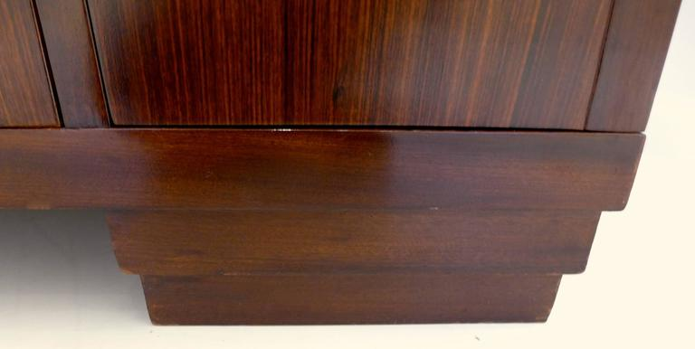 French Art Deco Cabinet in Macassar Ebony For Sale 3