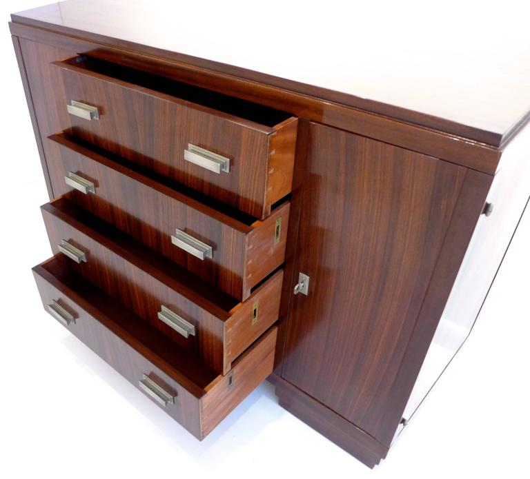 Mid-20th Century French Art Deco Cabinet in Macassar Ebony For Sale