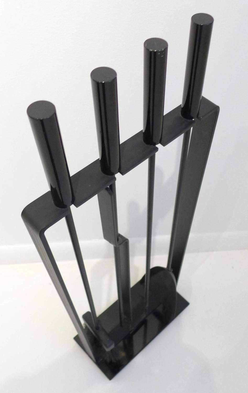 fireplace utensil set pilgrim 5 piece matte black fireplace tool
