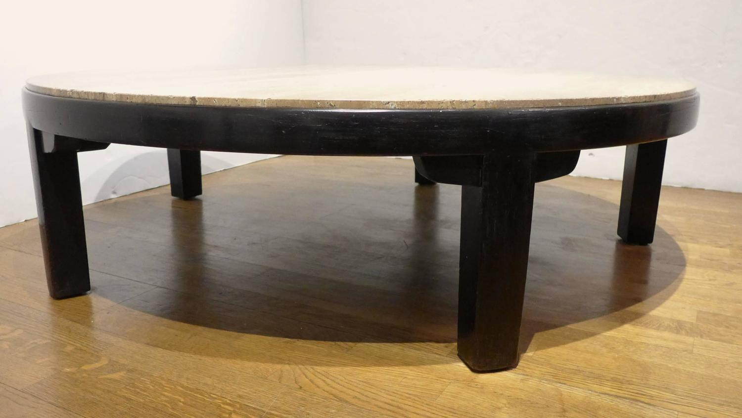 Edward Wormley Cocktail Table With Travertine Top For Sale At 1stdibs