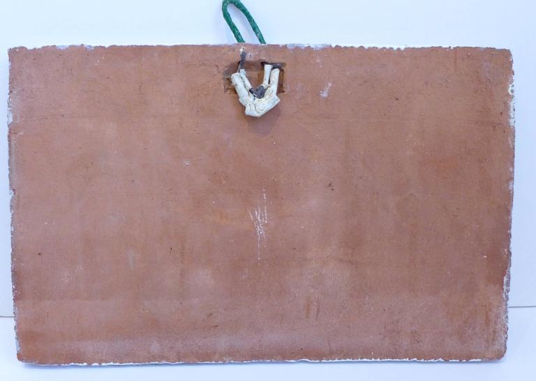 Viticulture Majolica Plaque by Giovanni de Simone For Sale 3