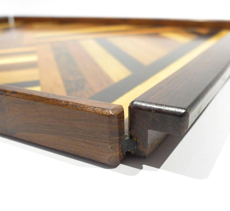 Mexican Don Shoemaker Marquetry Tray For Sale