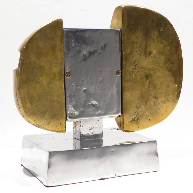 Late 20th Century Sculptural Clock by David Marshall For Sale