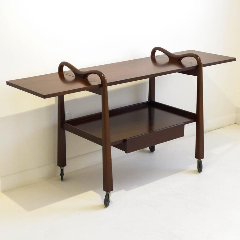 Mid-Century Modern Edmond Spence Serving Cart for Industria Meublera For Sale