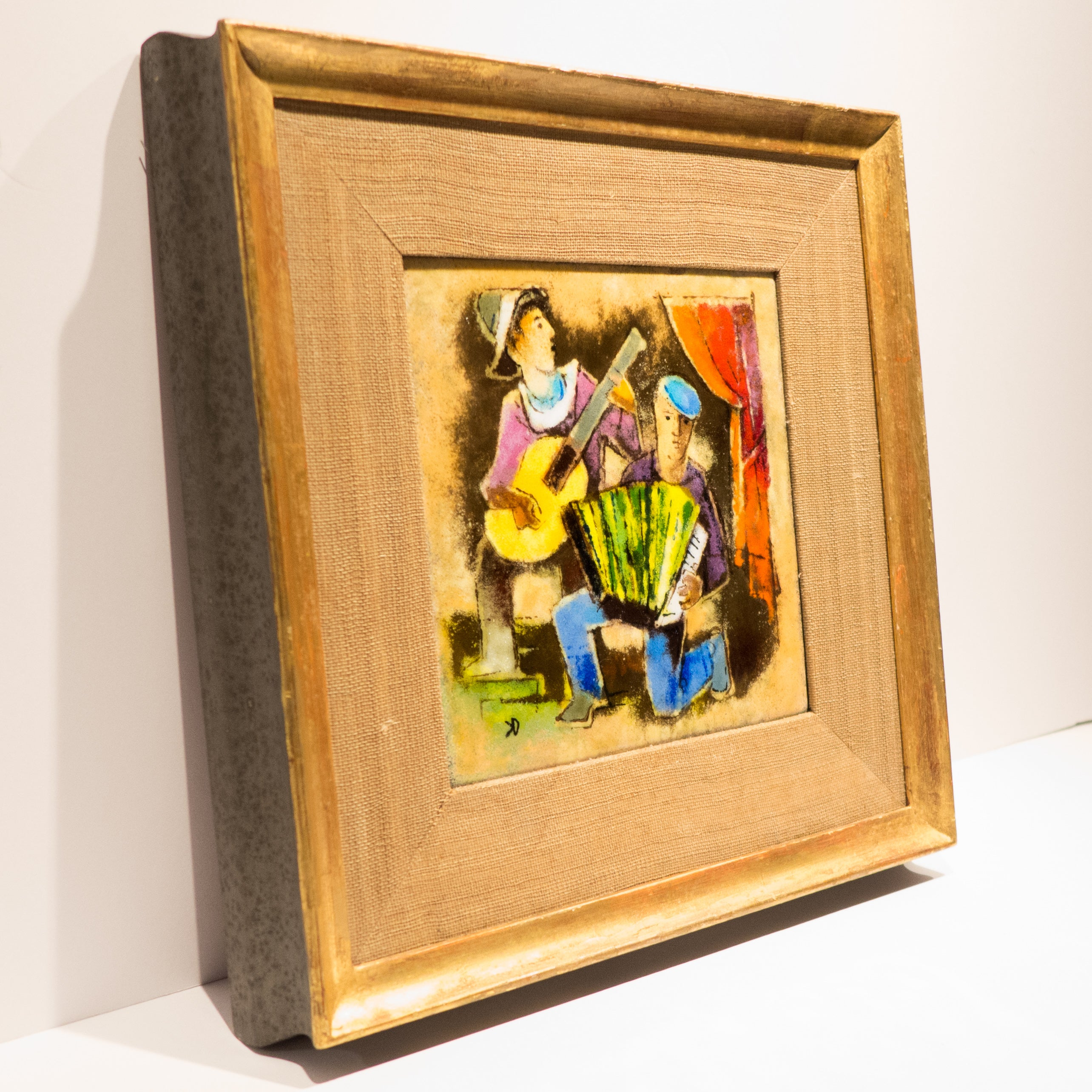 Karl Drerup Enamel Plaque in Frame For Sale at 1stdibs