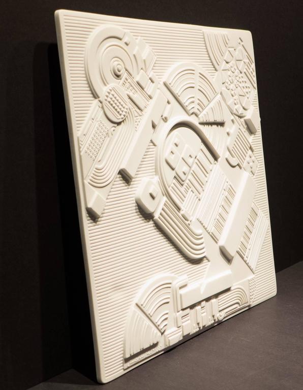 Modern Eduardo Paolozzi Plaque for Rosenthal For Sale
