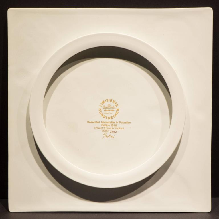 Late 20th Century Eduardo Paolozzi Plaque for Rosenthal For Sale