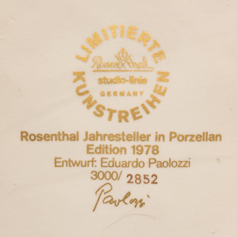 Porcelain Eduardo Paolozzi Plaque for Rosenthal For Sale