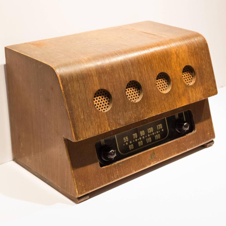 American Rare Charles and Ray Eames Molded Plywood Radio For Sale