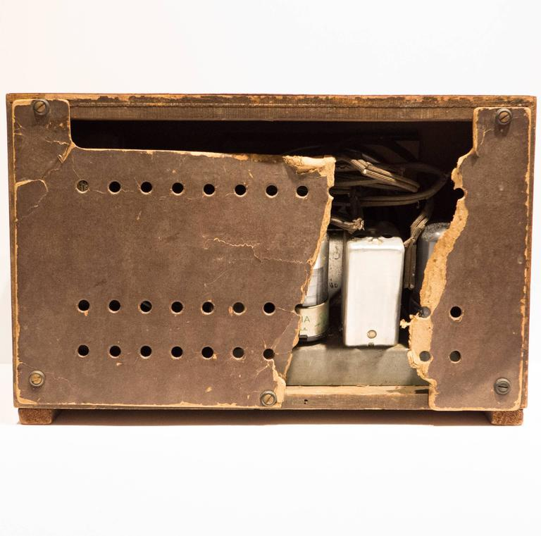 Rare Charles and Ray Eames Molded Plywood Radio 2