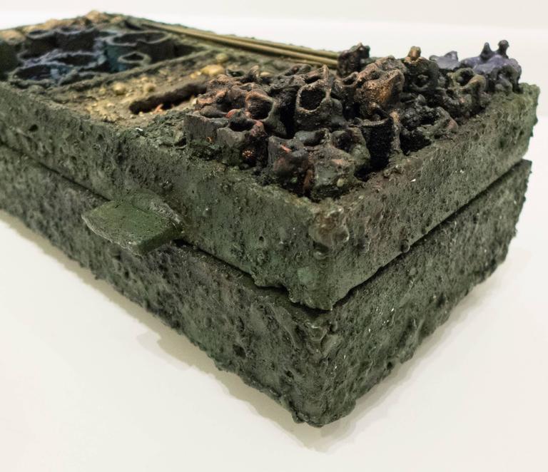 Bronze James Bearden Segment Jewelry Box For Sale