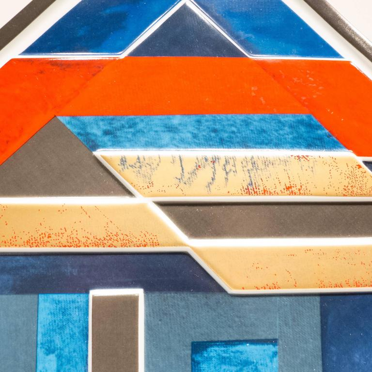 Modern Rosenthal Jahresteller Plaque by Otto Herbert Hajek For Sale