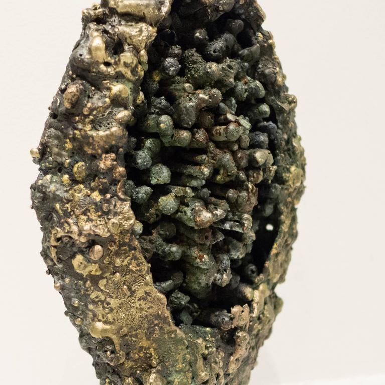 "Patinated James Bearden ""Pod"" Sculpture For Sale"