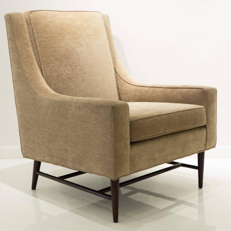 Mid-Century Modern Harvey Probber Lounge Chair with Ottoman For Sale