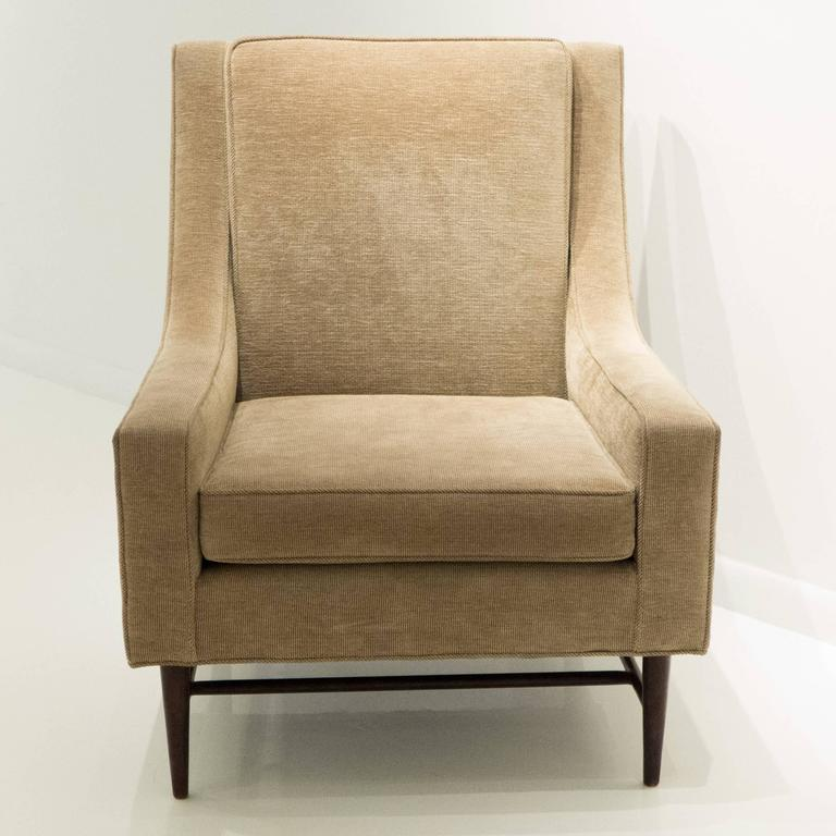 Harvey Probber Lounge Chair with Ottoman In Excellent Condition For Sale In New York, NY