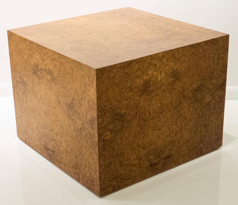 Large Burled Wood Side Table 2