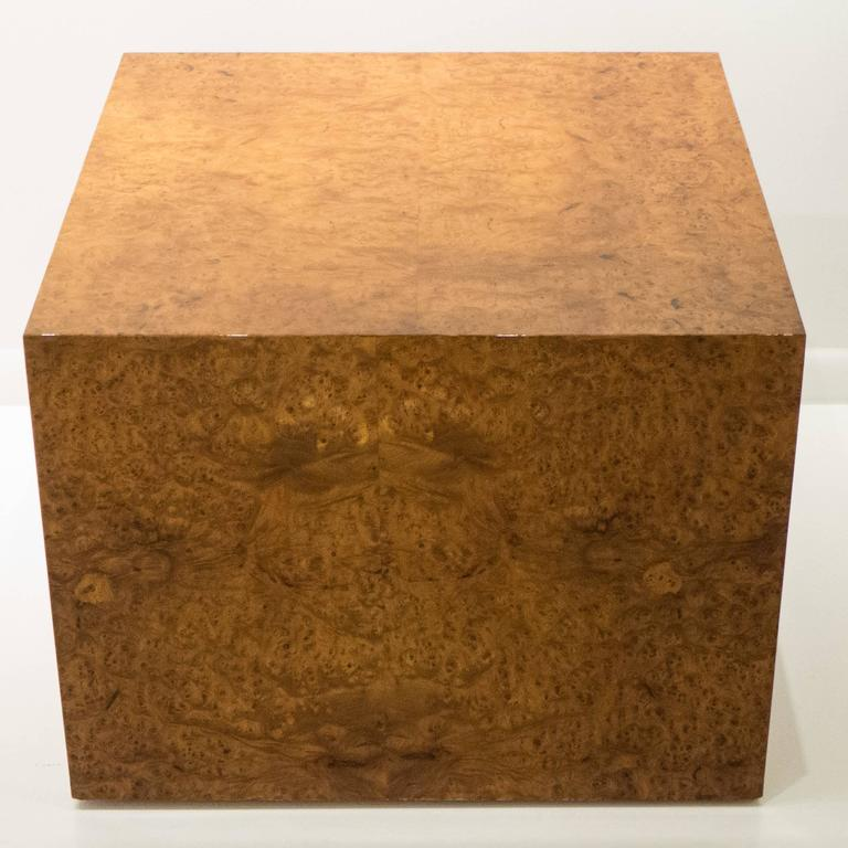 Large Burled Wood Side Table 3