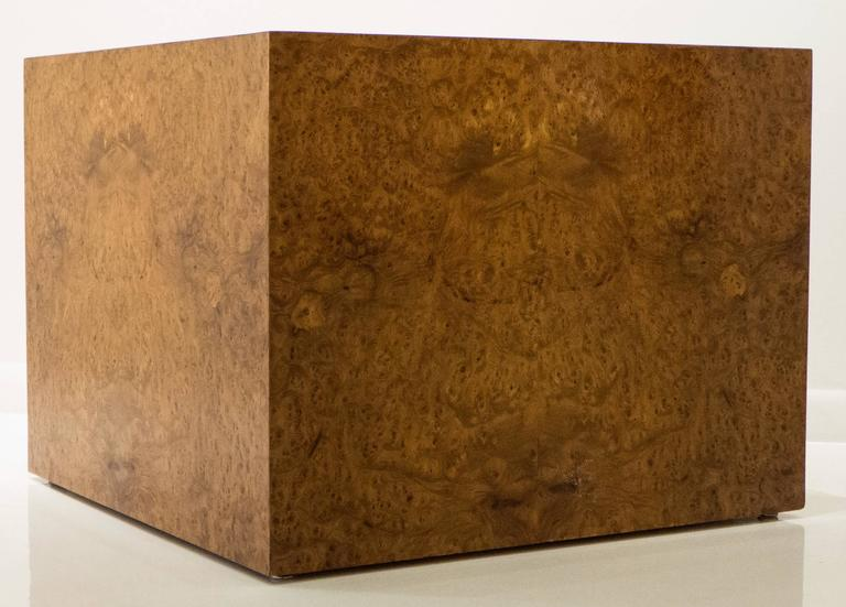 American Large Burled Wood Side Table For Sale