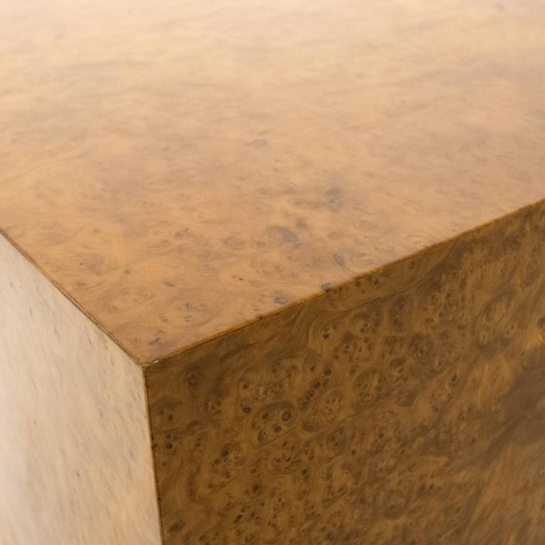 Large Burled Wood Side Table 6