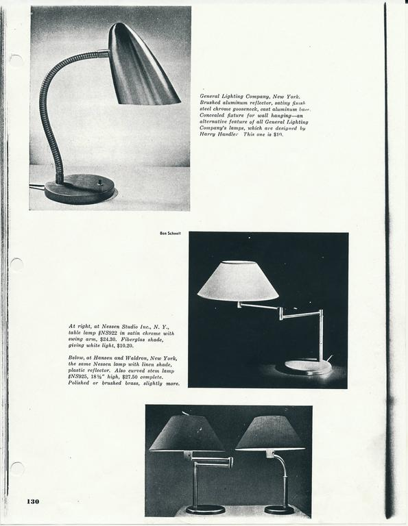Harry Handler Lamp for General Lighting In Excellent Condition For Sale In New York, NY
