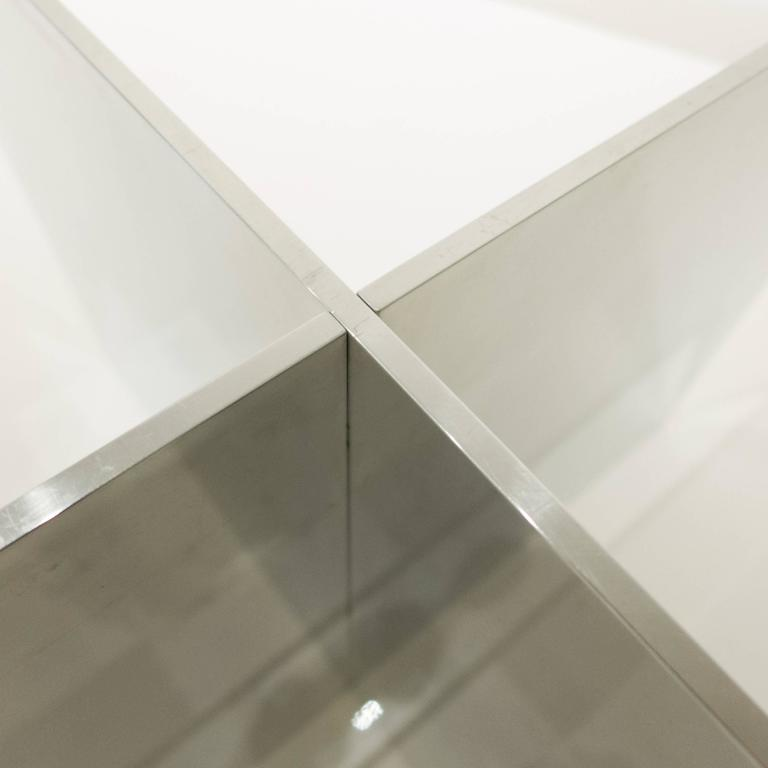 Paul Mayen Polished Aluminum Cocktail Table for Habitat 7