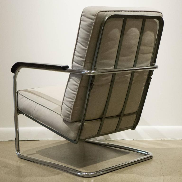 Swiss Early Werner Max Moser High Back Adjustable Armchair by Embru Werke For Sale