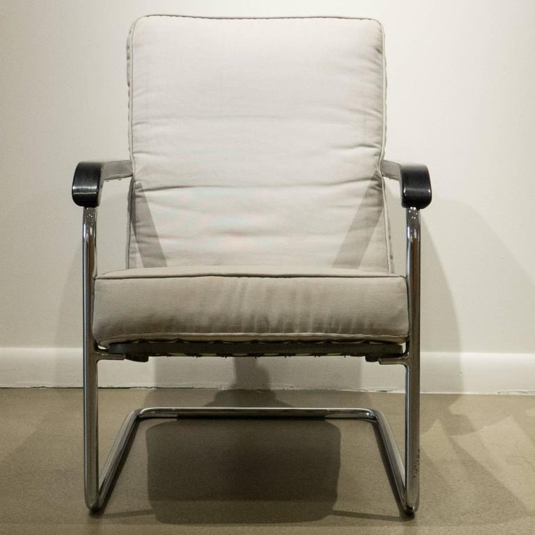 Painted Early Werner Max Moser High Back Adjustable Armchair by Embru Werke For Sale