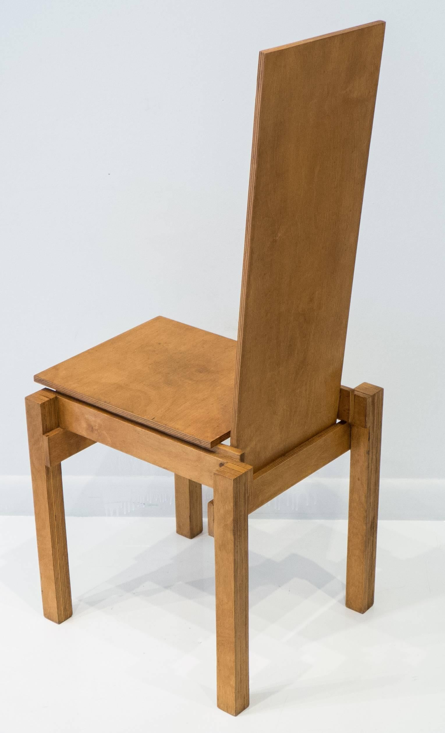 Constructivist Chair In Birch Plywood For Sale At 1stdibs