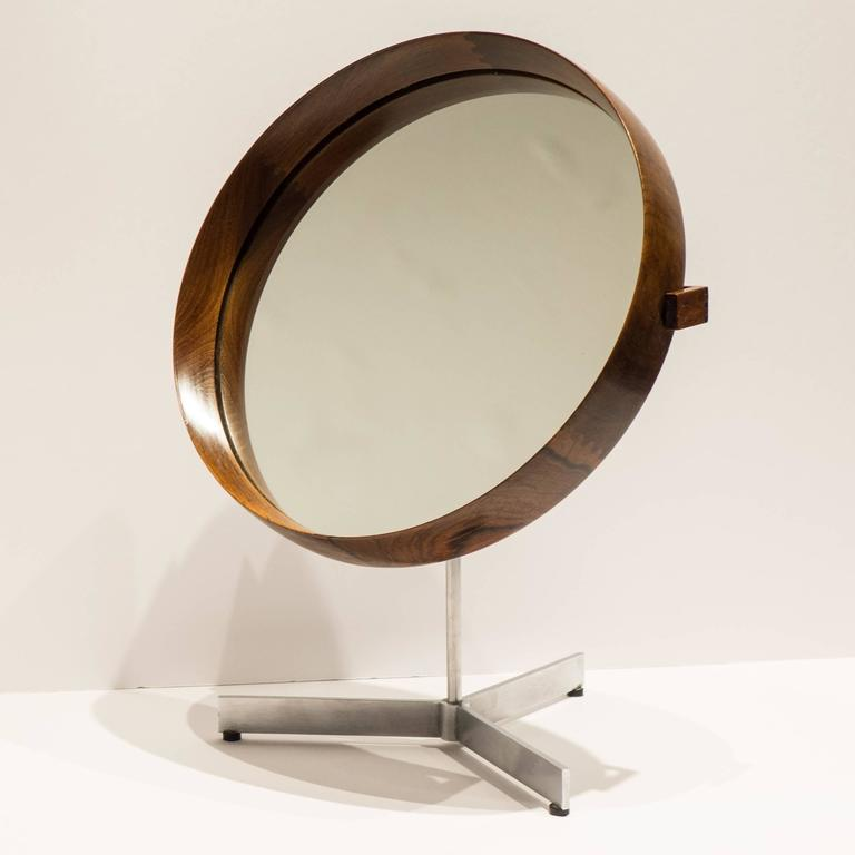 Mid-Century Modern Uno and Osten Kristiansson Table Mirror for Luxus For Sale