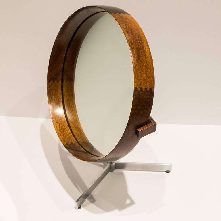 Uno and Osten Kristiansson Table Mirror for Luxus In Excellent Condition For Sale In New York, NY