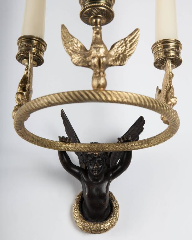 Empire Candle Sconce, circa 1860 In Excellent Condition For Sale In New York, NY