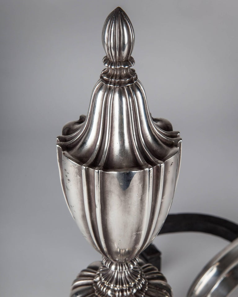 American Caldwell Urn-Form Chenets, circa 1910 For Sale