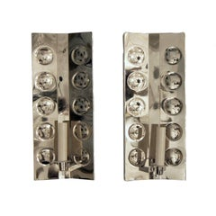 Pair of Nickel Plated Sconces