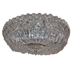 Crystal Flush Mount Light Fixture